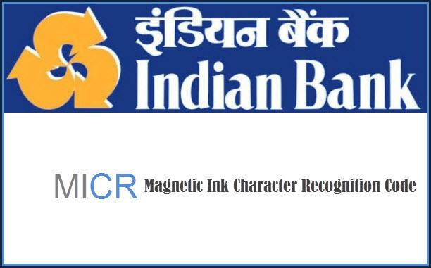 Indian bank MICR code