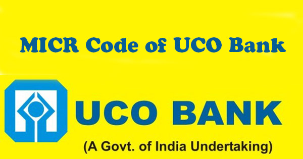 MICR Code of UCO Bank
