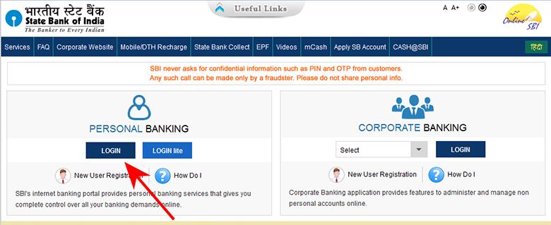 create sbi internet banking account