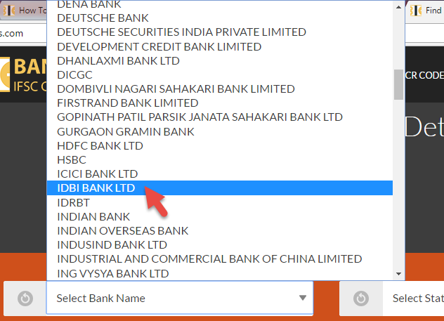 How To Find IFSC Code Of IDBI Bank Branches?   Banks IFSC Codes