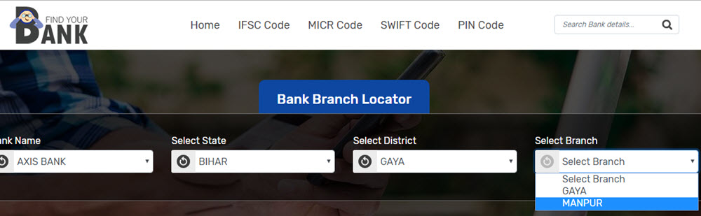 Select Branch Manpur