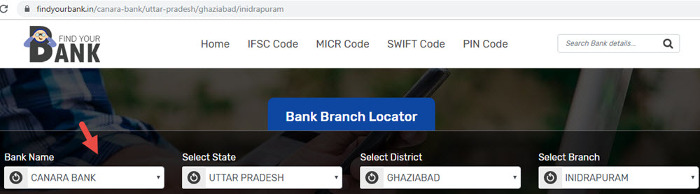 Select Canara Bank Inidrapuram Branch In Ghaziabad