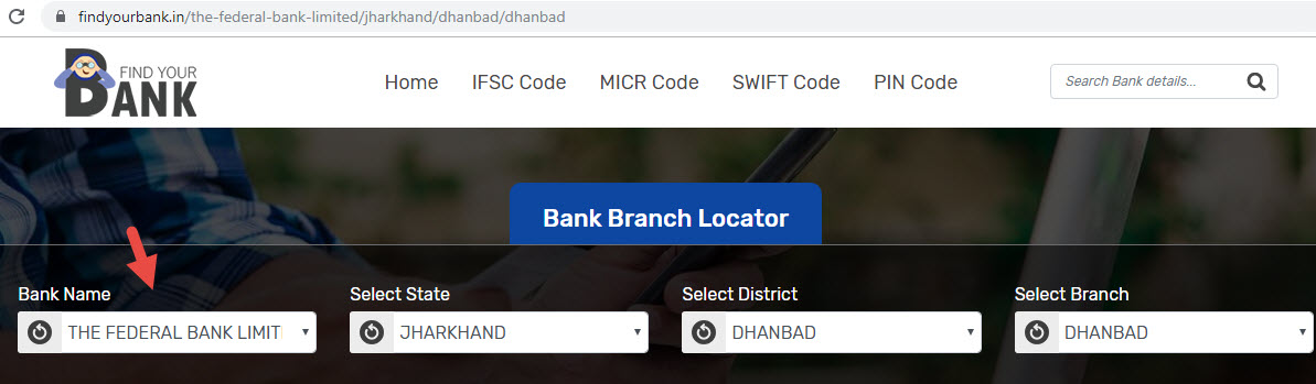 Select The Federal Bank Limited Dhanbad Branch