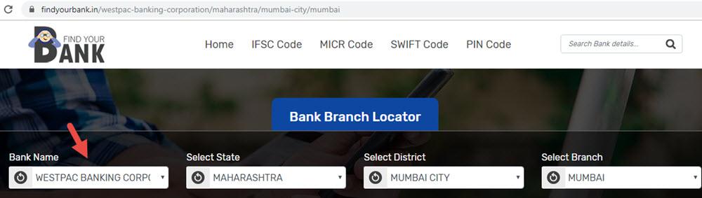 Select Westpac Banking Corporation Mumbai Branch