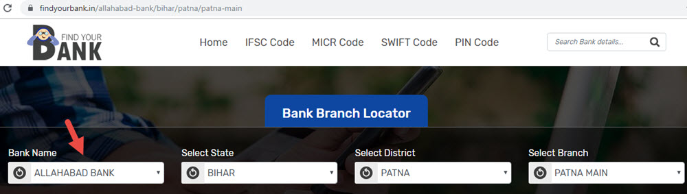 Select Allahabad Bank Patna Main Branch