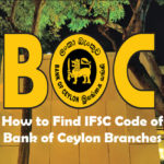How to Find IFSC Code of bank of ceylon branches