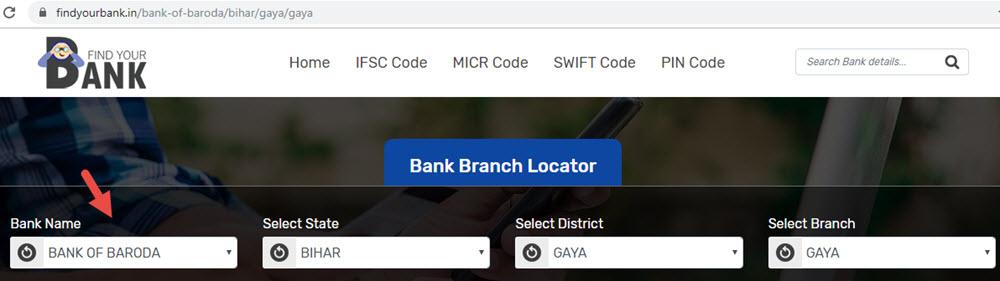 Select Bank Of Baroda Gaya Branch