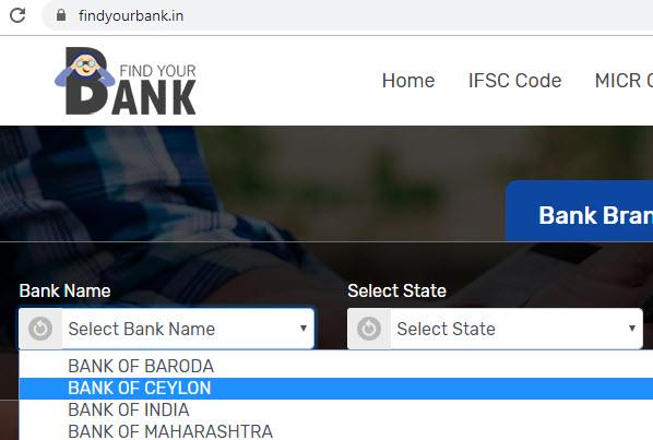 Select bank of Ceylon