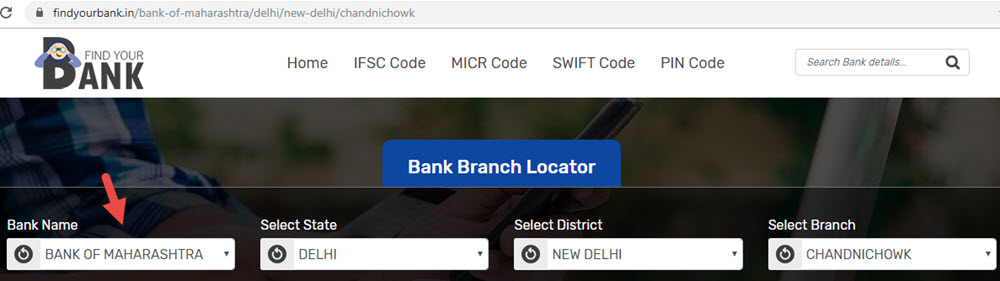 Select Bank Of Maharashtra Chandnichowk Branch