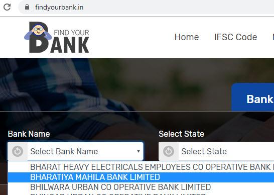 Select Bharatiya Mahila Bank Limited