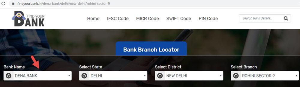 Select Dena Bank Rohini Sector 9 Branch