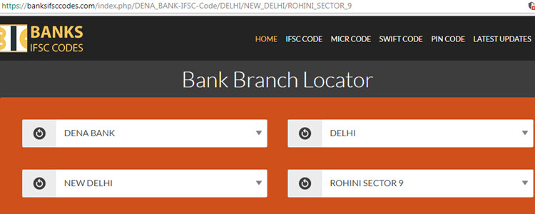 How to Find IFSC Code of Dena Bank Branches? - Banks IFSC