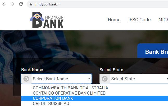 select corporation bank