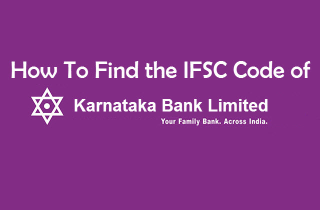 How to find ifsc code of Karnataka Bank Ltd Panipat Branch