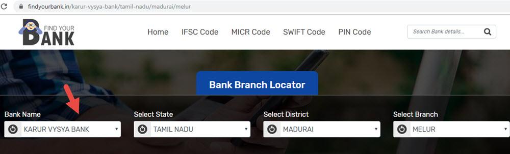 Select Karur Vysya Bank Melur Branch In Madurai
