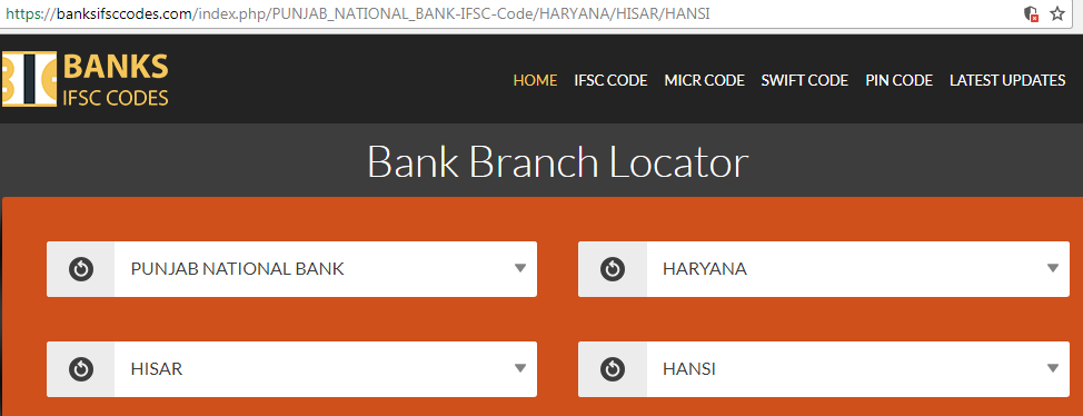Punjab National Bank Hansi Branch Select