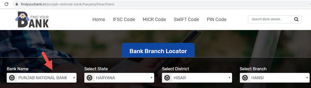 Select Punjab National Bank Hansi Branch