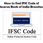 How to find the IFSC Code of Reserve Bank of India Branches?