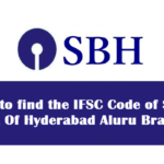 How to find the IFSC Code of State Bank Of Hyderabad Aluru Branch?
