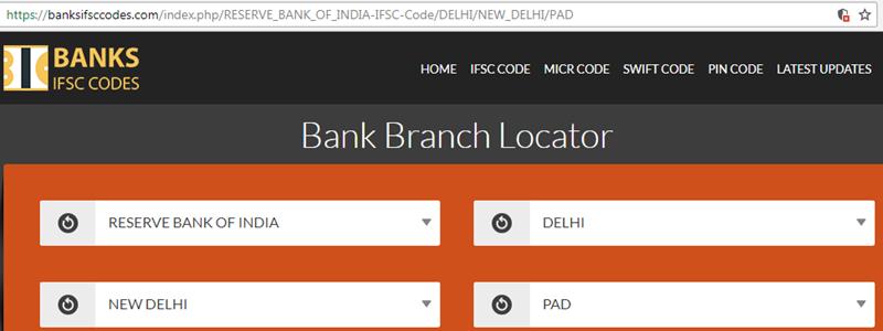 Select PAD Branch