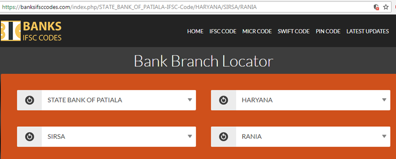 Select State Bank of Patiala Rania Branch