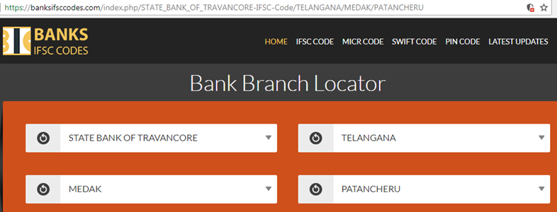 Select State Bank of Travancore