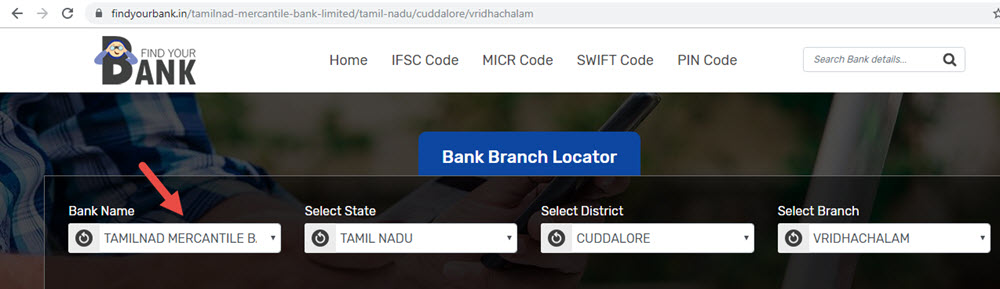 Select Tamilnad Mercantile Bank Limited Vridhachalam Branch