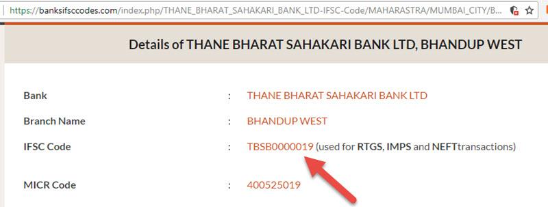 Details of THANE BHARAT SAHAKARI BANK LTD Bhandup West