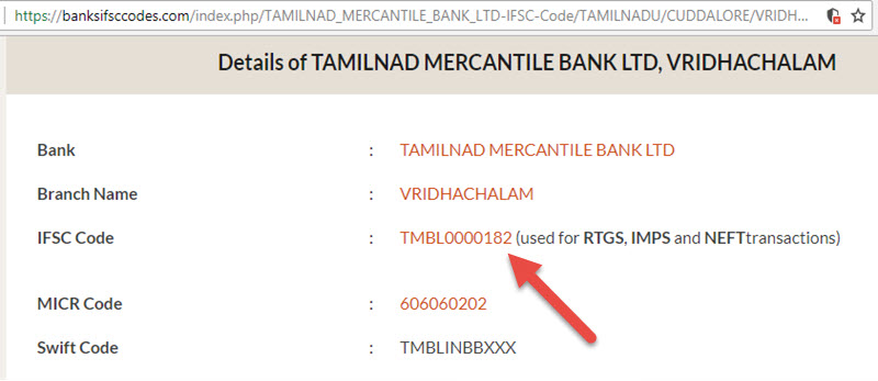 Details of Tamilnad Mercantile Bank Ltd