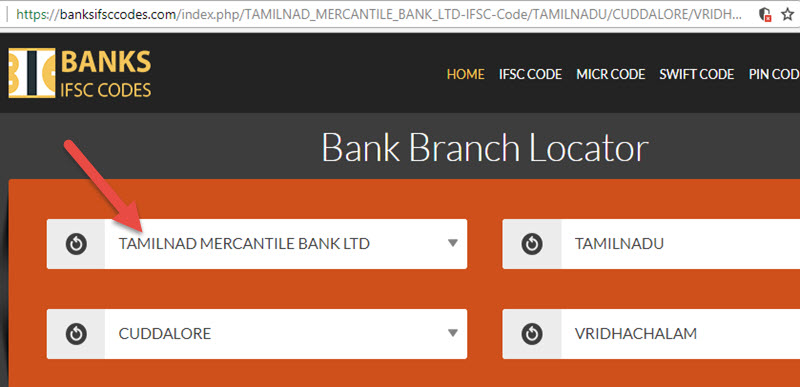 Select Tamilnad Mercantile Bank Vridhachalam Branch
