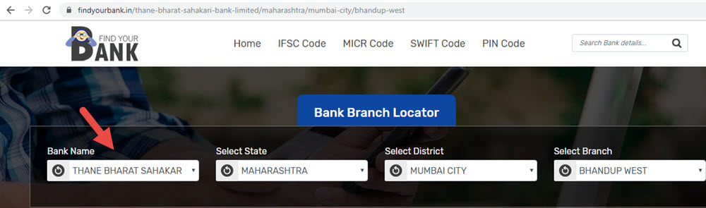 Select Thane Bharat Sahakari Bank Limited Bhandup West