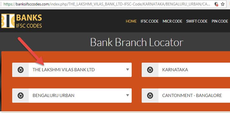 Select The Lakshmi Vilas Bank Ltd Cantonment - Bangalore Branch