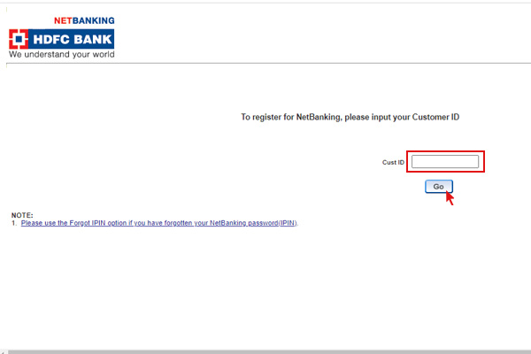 Enter Customer id and press go