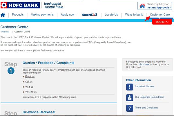 HDFC Netbanking Customer Care