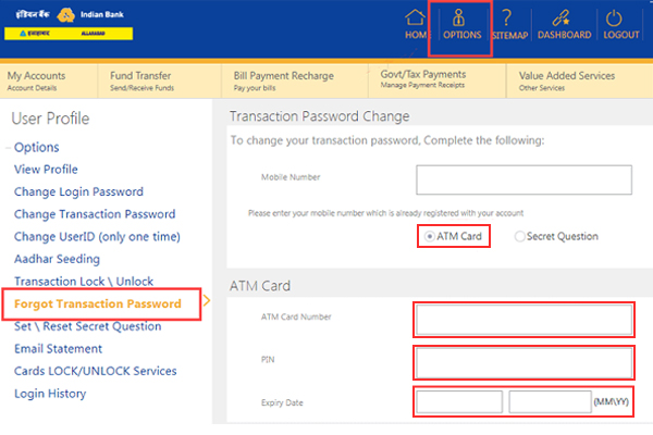 Fill in the details like the debit card number, ATM pin