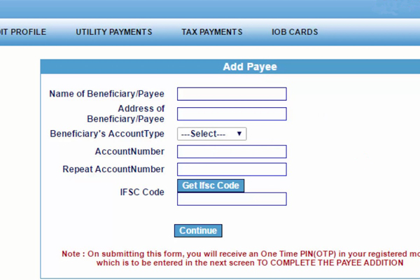 Fill Beneficiary Details