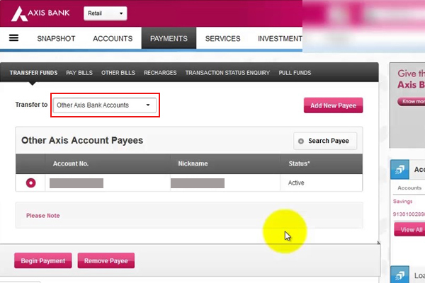 Select and Add New Payee