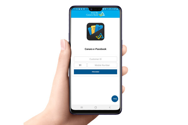 Enter Customer ID Mobile No Proceed