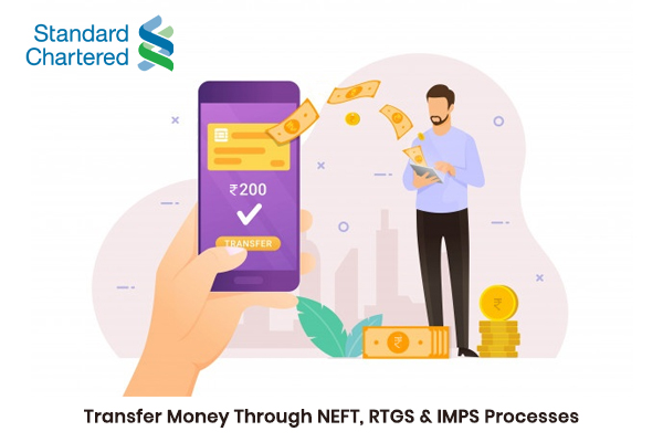 How to Transfer Money through Standard Chartered Bank NEFT, RTGS & IMPS processes?