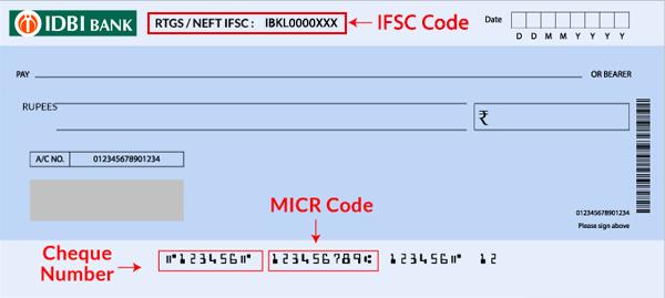 IDBI Bank Cheque book