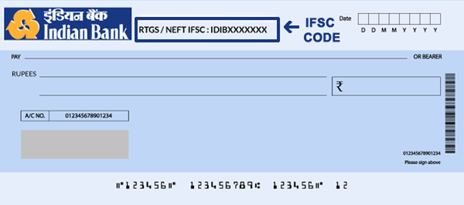 Indian Bank Cheque book