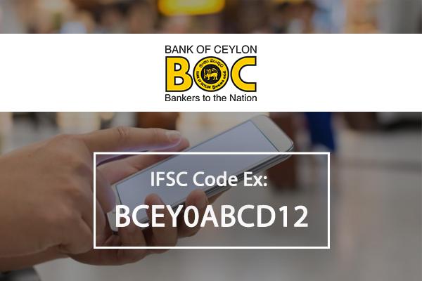 Bank of Ceylon IFSC Code