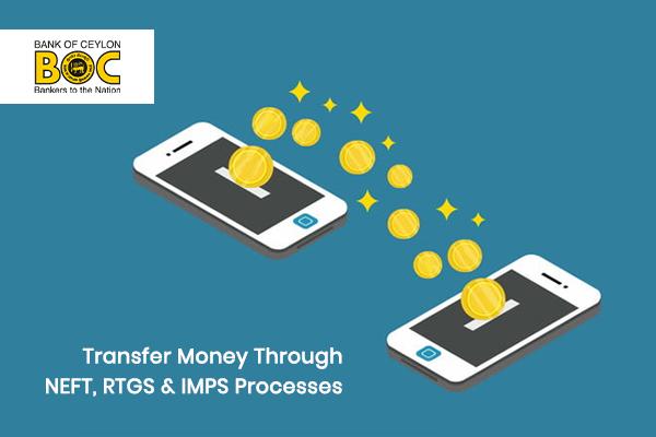 How to Transfer Money through NEFT, RTGS & IMPS processes of Bank of Ceylon