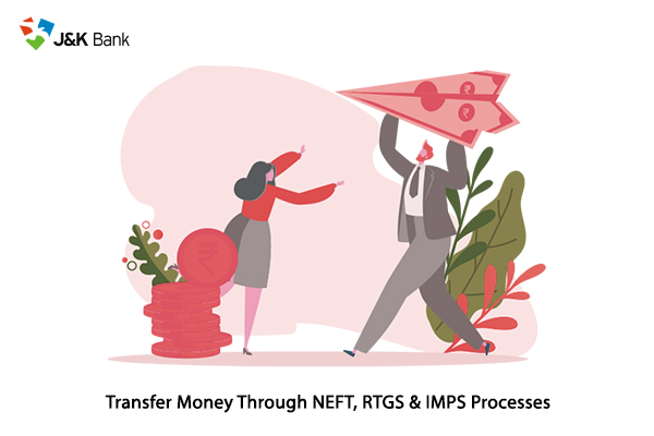 how to transfer money through neft, rtgs imps processes of jammu and kashmir bank