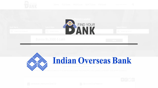indian overseas bank branches in bangalore