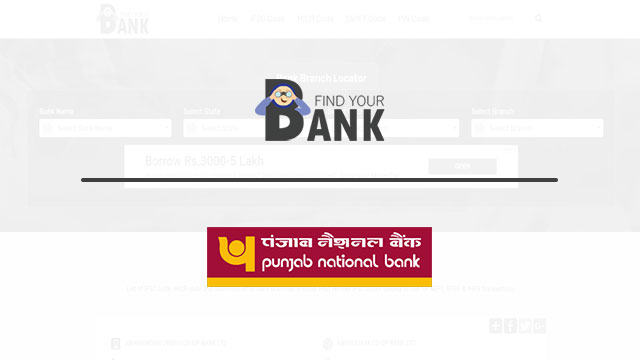 Punjab National Bank All Branches Address, IFSC And MICR Code